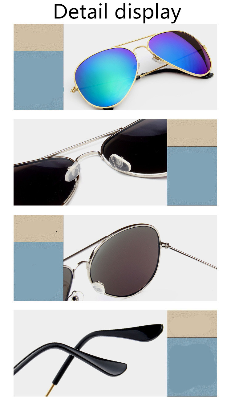 ASUOP2018 new ladies retro cat eye sunglasses luxury brand fashion men's pilot glasses UV400 night vision goggles night vision goggles (14)