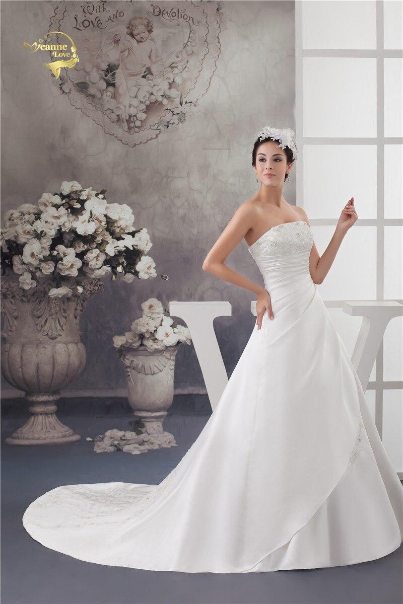 2016 Bílé / slonovinové Luxusní Vestido De Noiva Robe De Mariage - Svatební šaty - Fotografie 2