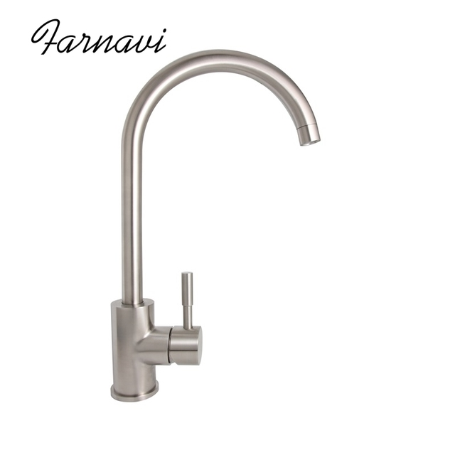 heavy duty kitchen faucet cabinents 304 stainless steel single handle lead free healthy sink mixer water tap