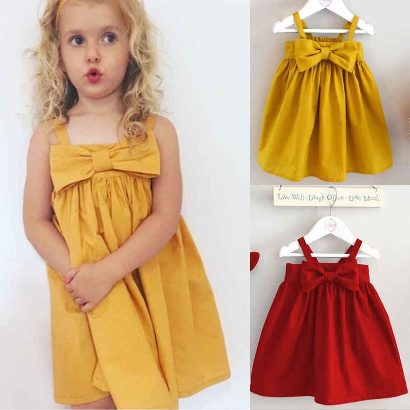 2017 ילדים בסגנון קיץ ילדים אוהבים שמלות ירידת משלוח בגדי הילדים תינוקות יילוד בנות dress dress המוצק גדול קשת
