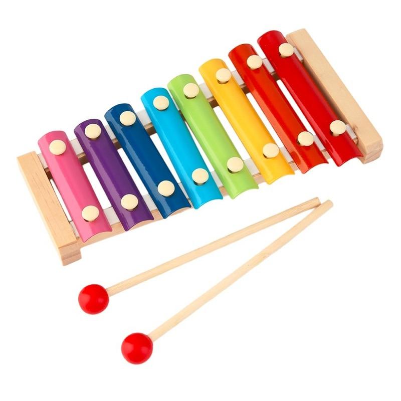 Xilófono 8 Escalas Melodía Vocal Instrumento de Música Juguetes Del Bebé de La P