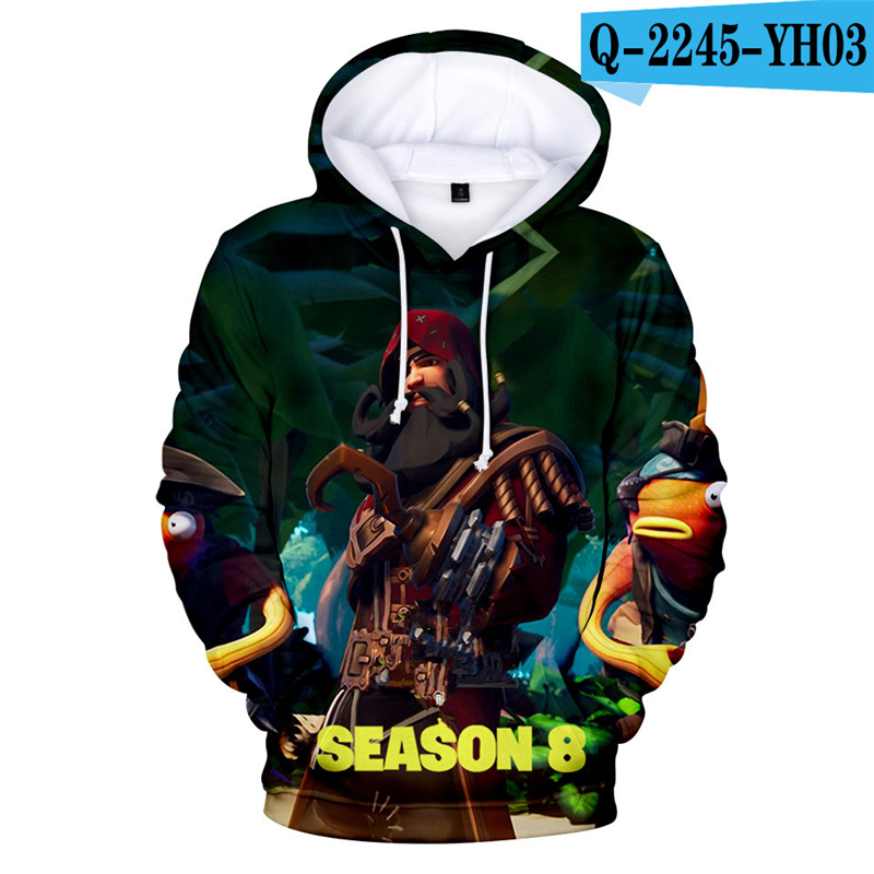 Fortniter Battle Royale Hoodie Battle Royale Moletons Fornited Women Clothing Sweatshirt 3D Print Game Clothing Popular Clothes