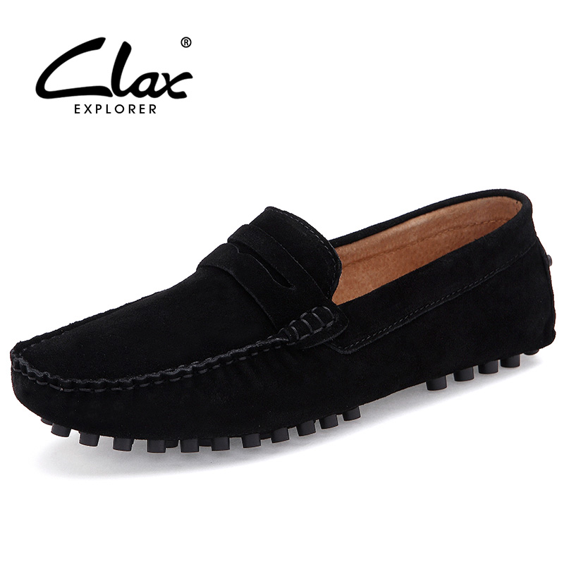 397b1581d0 Clax Mens Diseñador de Cuero de Gamuza Plana Zapatos Transpirables Mocasines  Casuales Masculinos Mocasines Resbalón En Los Zapatos de Conducción de Moda  ...