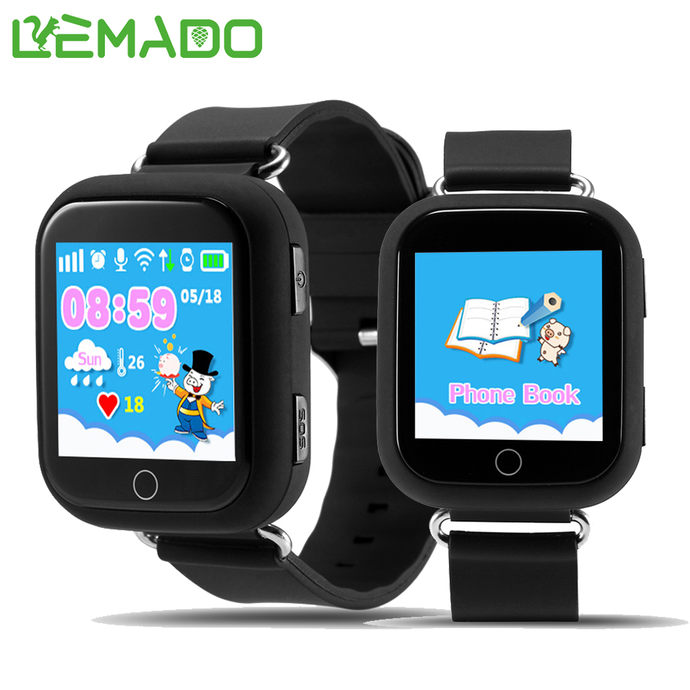 Lemado Q750 baby smart watch with Wifi 1.54inch touch screen SOS Call Location Device Tracker for Kid Safe Anti-Lost Monitor wireless service call bell system popular in restaurant ce passed 433 92mhz full equipment watch pager 1 watch 7 call button