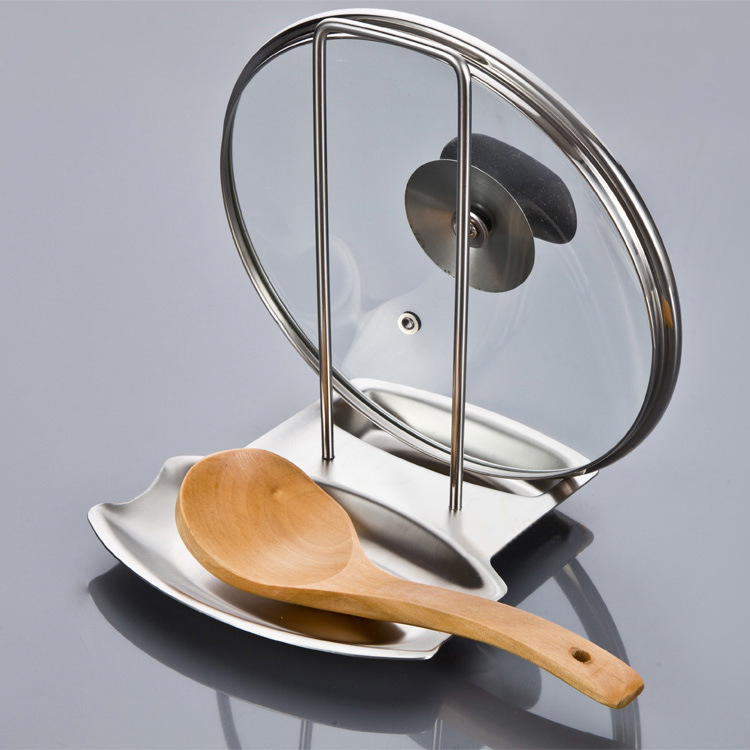 Creative Removable Stainless Steel Pan Pot Cover Lid Rack Stand Spoon Rest racks shelves Organizer Storage