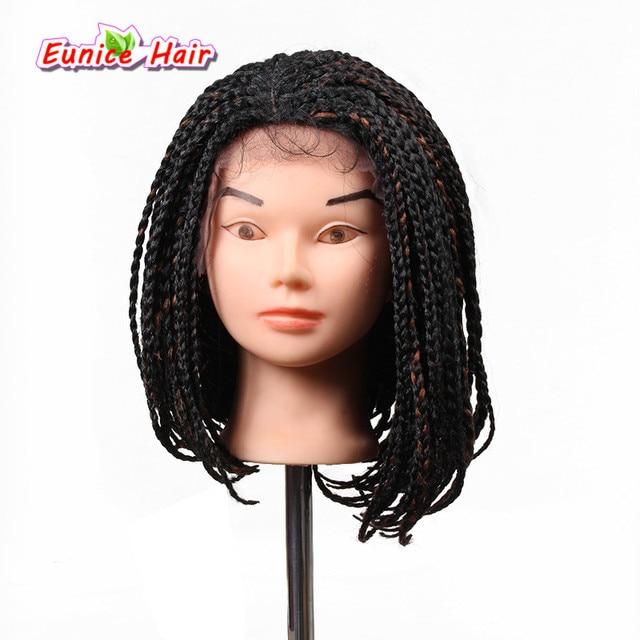 Toko Online Inch Pendek Wig Crochet Jalinan Kotak Kepang - Gaya rambut pendek kepang