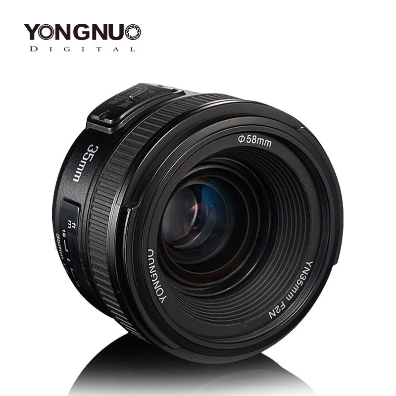 Yongnuo 35mm lens YN35mm F2 1:2 Wide-angle Large Aperture Fixed Auto Focus Lens  For Canon EOS EF Cameras or Nikon AF CamerasYongnuo 35mm lens YN35mm F2 1:2 Wide-angle Large Aperture Fixed Auto Focus Lens  For Canon EOS EF Cameras or Nikon AF Cameras