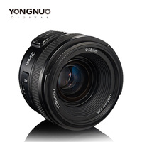 Yongnuo 35mm lens YN35mm F2 1:2 Wide angle Large Aperture Fixed Auto Focus Lens For Canon EOS EF Cameras or Nikon AF Cameras