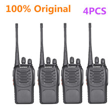4PCS 100% Original Baofeng 888S Walkie Talkie Portable Radio Hotel Communicator Handheld Transceiver Cb BF-888S Station