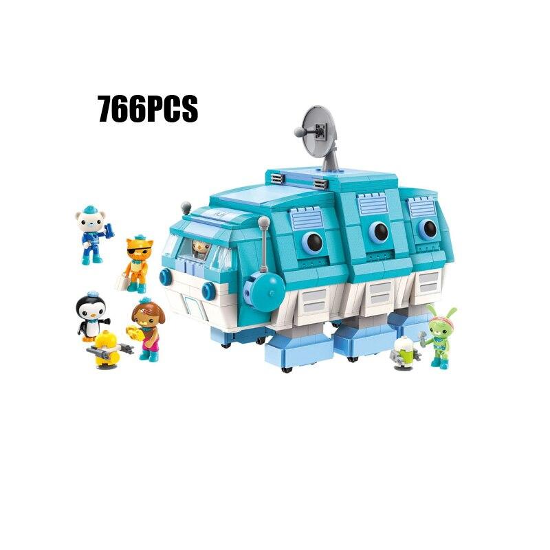Hot Octonaut cartoon building block GUP I Water bear worm submarine bricks Kwazii Barnacles Peso Dashi Tweak robot figures toys