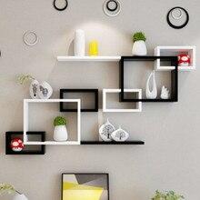 Настенная полка, подвесной шкаф, настенный светильник для гостиной, ТВ, фон на стену, Пробивка, для спальни, креативная решетка для хранения XI311124