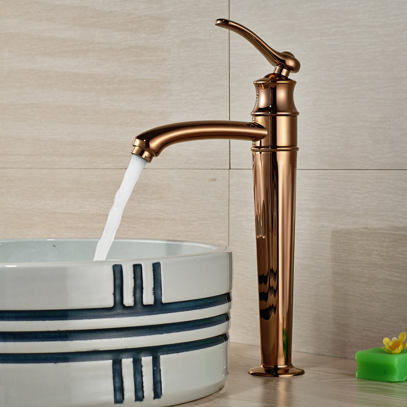 Здесь можно купить  Crative Design Countertop Basin Sink Faucet Deck Mount One Hole Mixer Taps with Hot and Cold Water Rose Golden Finish Crative Design Countertop Basin Sink Faucet Deck Mount One Hole Mixer Taps with Hot and Cold Water Rose Golden Finish Строительство и Недвижимость