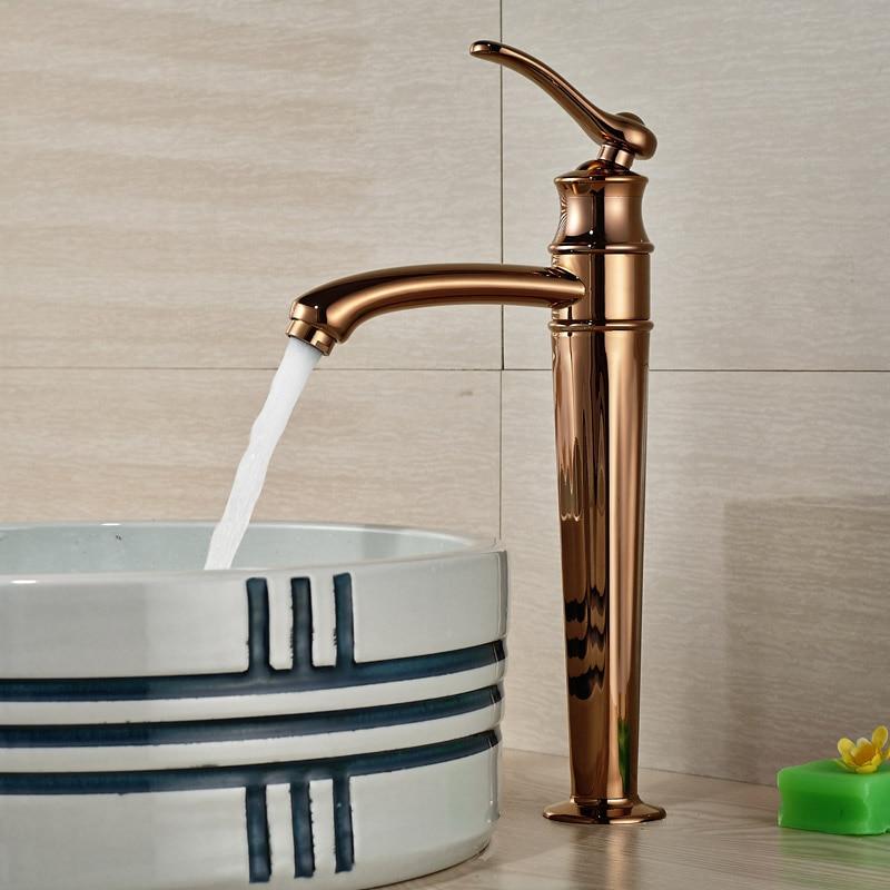 Здесь можно купить  Crative Design Countertop Basin Sink Faucet Deck Mount One Hole Mixer Taps with Hot and Cold Water Rose Golden Finish  Строительство и Недвижимость