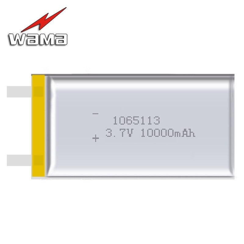 2x Wama 1165113 Real 10000mAh Li ion 3 7V Rechargeable Battery Lithium Polymer Mobile font b