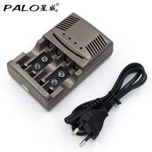 PALO C819 LED Light Smart Charger For NI-MH NI-CD AA AAA Rechargeable Batteries For NI-CD LI-ION 9V 6F22 Battery US / EU Plug