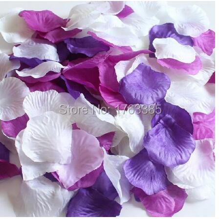 Mixed Plum Purple Deep Purple White Party Wedding Flowers Silk