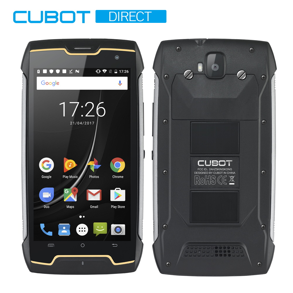 Cubot KingKong Rugged Smartphone IP68 Waterproof 4400mAh Big Battery Compass+GPS 3G Dual-SIM Android 7.0 2GB RAM 16GB ROM MT6580