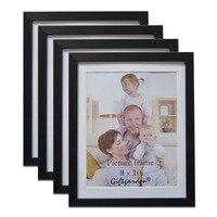 Giftgarden 8x10 Picture Frame Set Para A Decoração Da Parede De Madeira Da Foto quadro Aro Preto Decoração da Casa de Vidro Frontal Conjunto de 4 peças