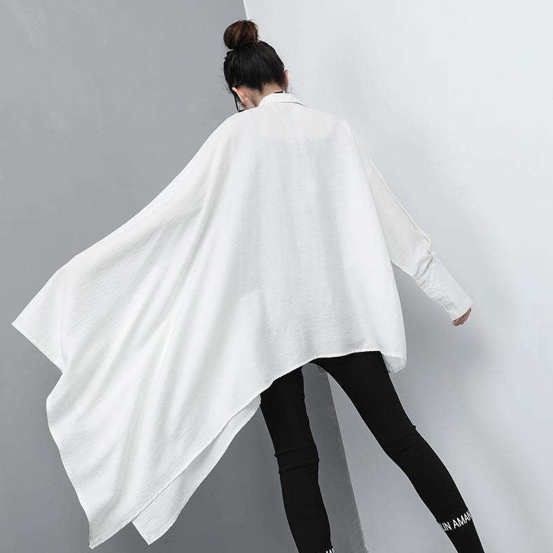 Patchwork Wbb2649 Femmes Femelle Chemise Pleine Mode Turn Black De down L'europe 2019 Blouse white xitao Manches Collar New Irrégulière Spring Lettre Wbb2649 ZRdq6qgx