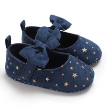 Canvas Baby Shoes Stars Bow First walk Newborn Baby Girl Sho