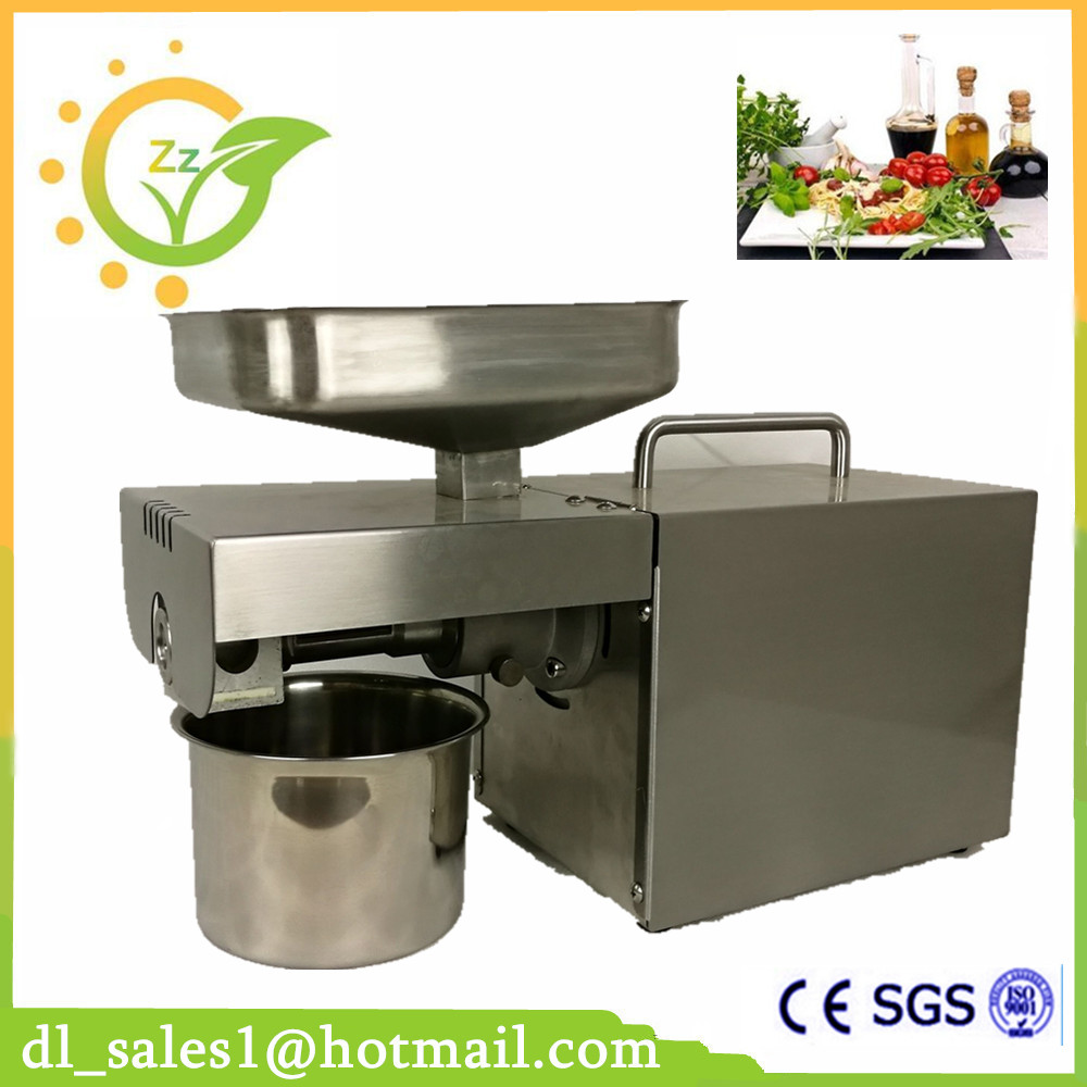 Mini Soybean Oil Press Machine Stainless Steel Cold Oil Press Seed Oil Extraction Hydraulic Press Machine With CE