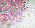 30gram/lot x Mixed NEON& Laser Colors and (Hexagon+Mickey)Shapes Solvent Resistant Glitter for Nail Art and Nail Polish