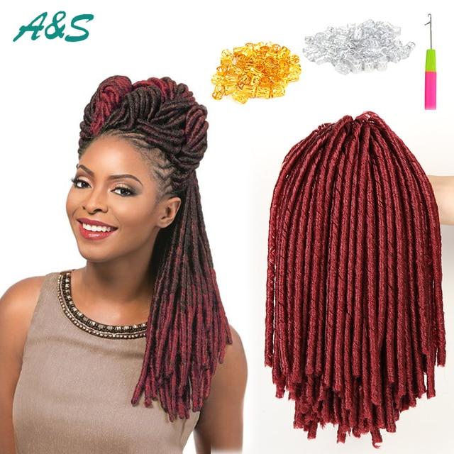 Color 900 Faux Locs Crochet Braids Hair Extension Braiding Hair