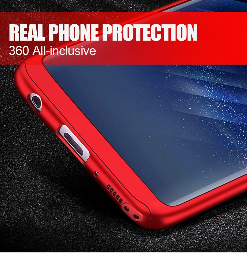 Luxury 360 Full Cover Case For Samsung Galaxy S8 S7 Plus Cases Shockproof PC With Glass TOMKAS Case For Samsung Galaxy S8    (3)