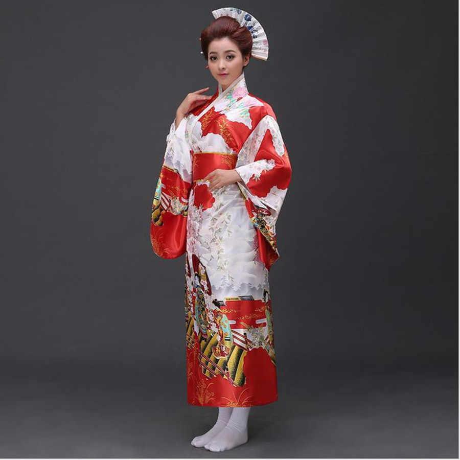 חם למכור ורוד יפני לאומי נשים קימונו יאקאטה עם אובי מסורתי שמלת ערב חידוש ליל כל הקדושים תחפושת אחת גודל