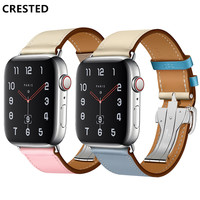 CRESTED Deployment Buckle Strap For apple watch band Apple Watch 4 3 iwatch band 42mm 38mm 44mm 40mm correa Bracelet Single Tour