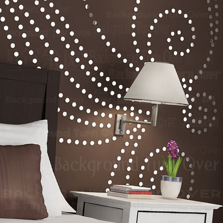 DIY plant tree pattern round dot 3d wall sticker home decor large wall mirror bedroom bed head decal stickers wall poster R101 - 2