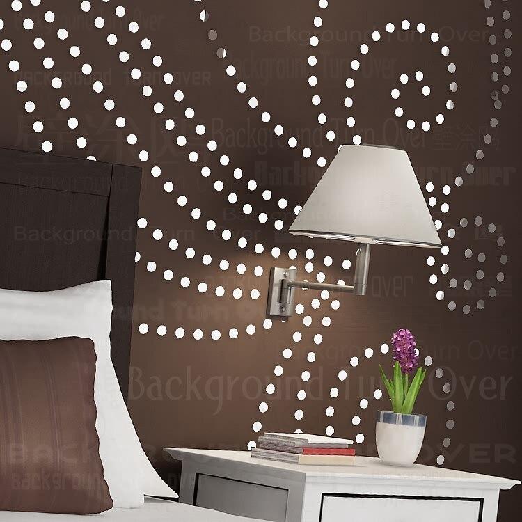 Usine DIY arbre motif rond point 3d wall sticker home decor grand miroir mural chambre lit tête decal autocollants mur affiche R101 - 2