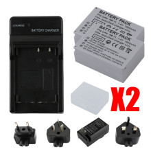 цена на RP 2 x 1500mah NB-7L NB7L NB 7L Camera Battery + USB Charger For Canon PowerShot G10 G11 G12 SX30IS NB7L NB-7L Battery Batteria