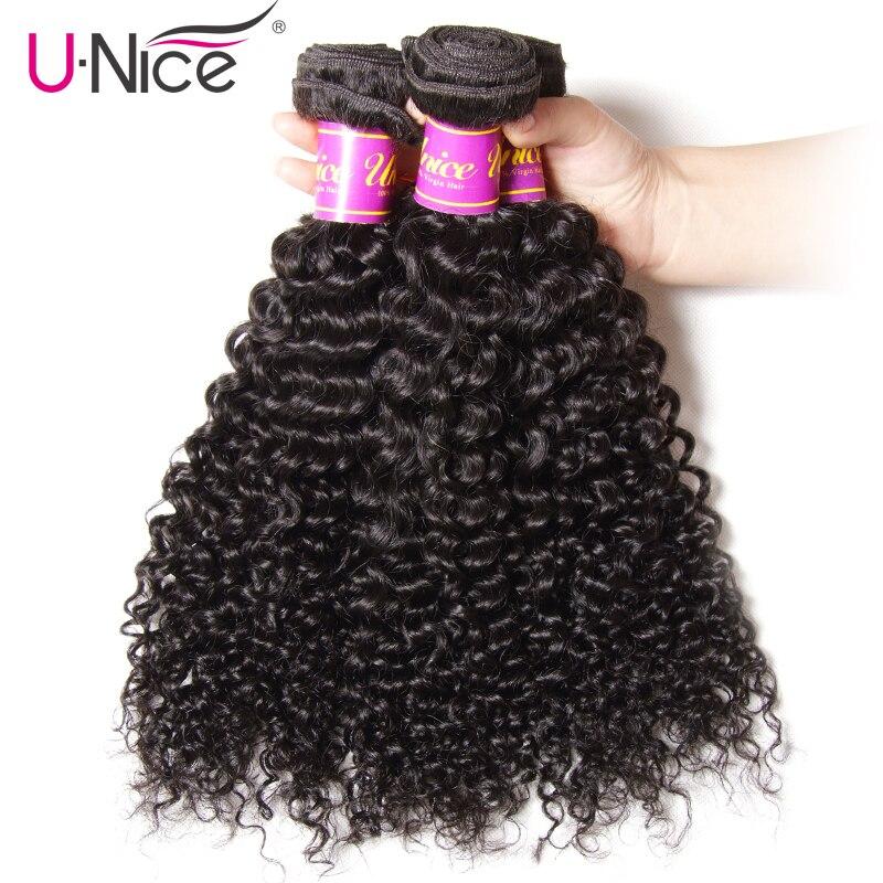 Unice Hair Company Mongolian Kinky Curly Hair 3 Bundles 100 Human Hair Extension 8 26 Inch