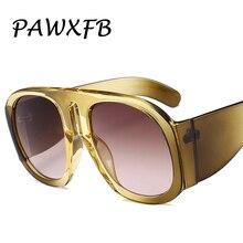 PAWXFB 2018 New Italy Brand Designer Square Sunglasses Women Men Hotselling Luxury Oversized Eyewear Gafas de sol