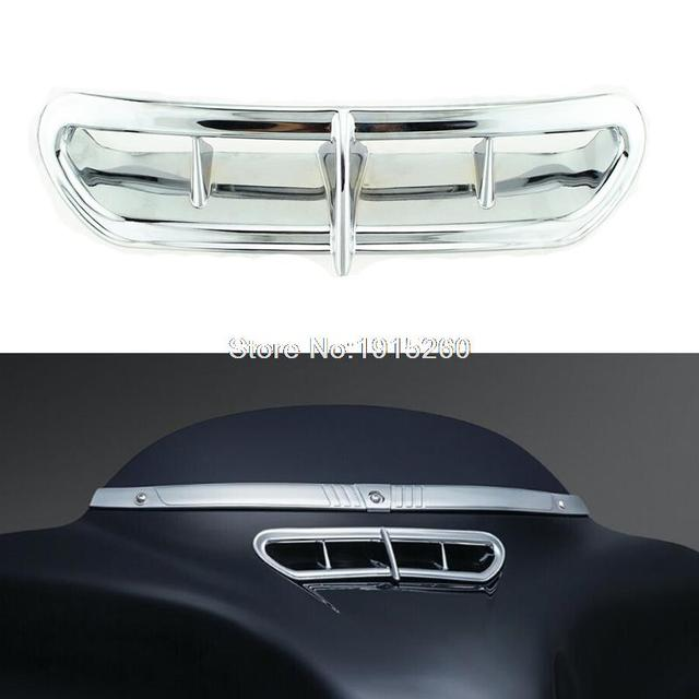 Motorcycle Chrome Fairing Air Vent Duct For Harley 2014-2015 Electra Street Tri Glide CVO (Fits: Harley-Davidson)
