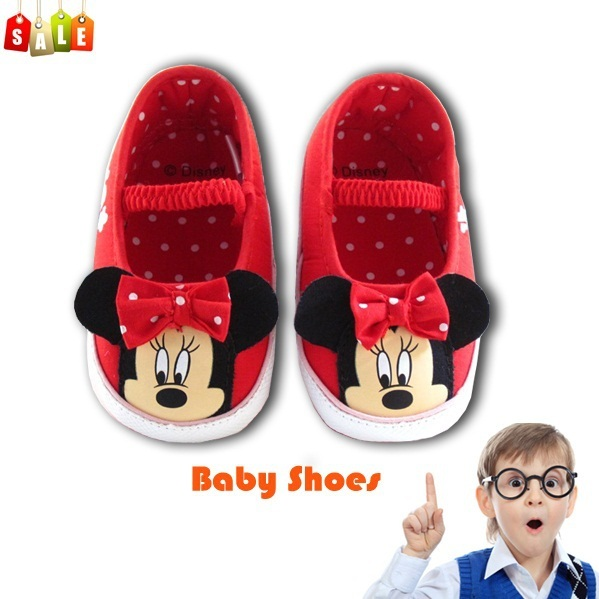Hot sale baby girls cartoon minnie shoes toddler antiskid shoes infant cute footwear prewalker first walkers free shipping
