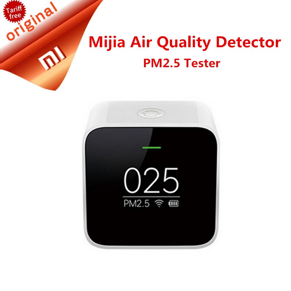 Prix pour D'origine xiaomi mijia pm2.5 détecteur xiaomi air qualité testeur écran oled smart smart sensor control app adapter mi air purificateur