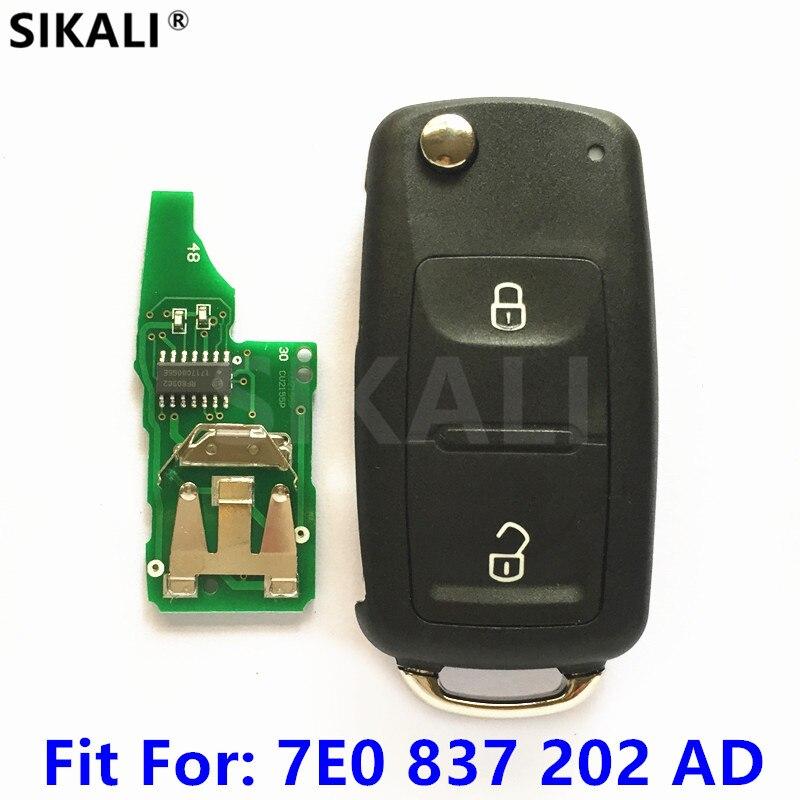 Автомобильный Дистанционный ключ для 7E0837202AD/5FA010185-02 для AMAROK/транспортера 434 МГц с ID48 для VW/VolksWagen