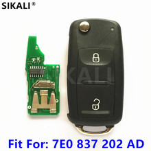 Clé télécommande pour voiture, 434MHz, avec ID48, pour VW/VolksWagen, 7E0837202AD/5FA010185 02, pour AMAROK et TRANSPORTER