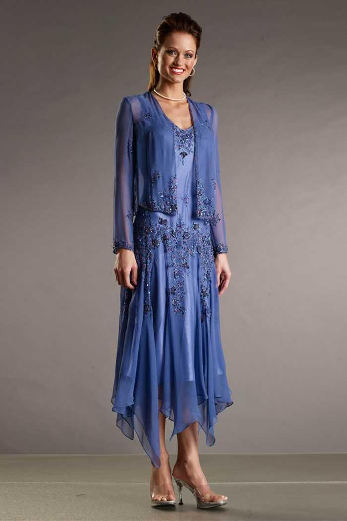 b3d4f2881cf5 Royal Blue Elegant Mother Of The Bride Dresses Tea length 2015 Groom Mother  Dress For Wedding