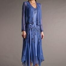 Royal Blue Elegant Mother Of The Bride Dresses Tea length 2015 Groom Mother Dress For Wedding