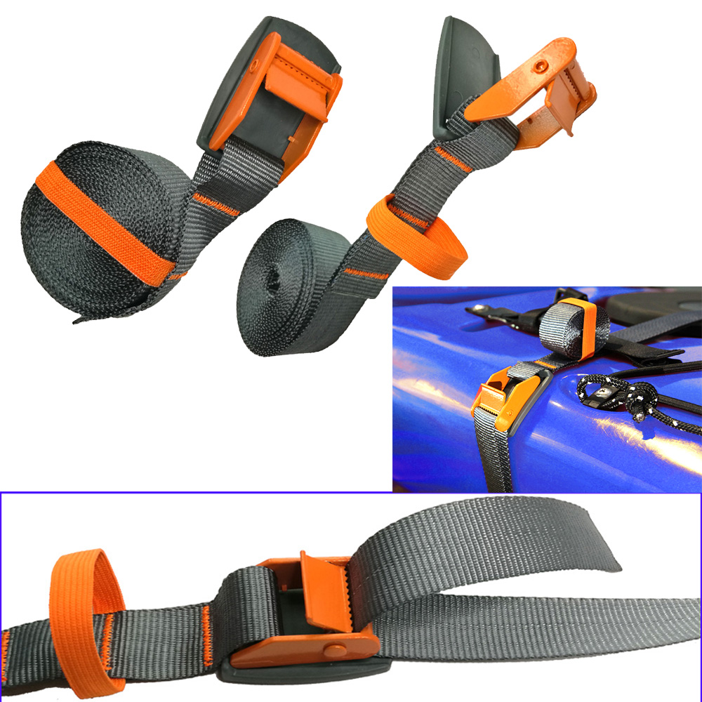 1/2PC 4M 200KG Kayak Tie Down Lashing Strap Surfboard Cargo Car Trailer Boat Luggage Canoe Tie-Down Strap Padded Cam Lock Buckle