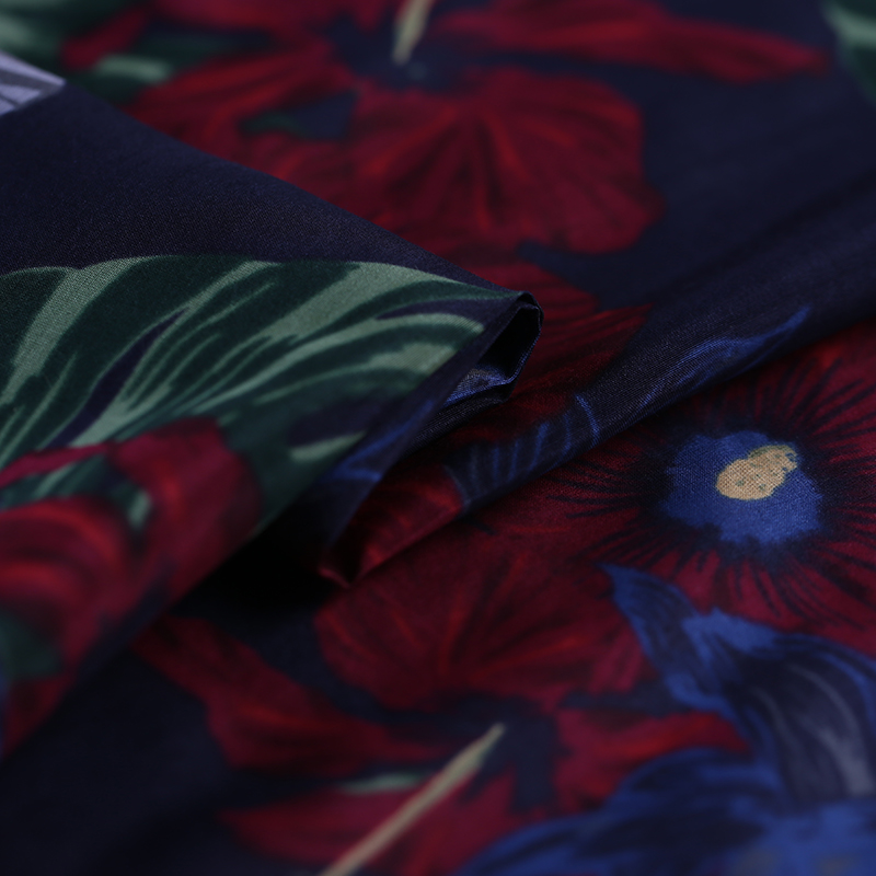 SLK15 100X140CM Yellow Florals Summer Silk Fabric Cotton Fabric For Women Dress 2018 Silk Scarve Silk Clothing Fabrics for DIY