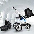 Carrinho de bebê de alta paisagem quatro-rodas de carrinhos de choque do carro pode sentar pode mentir portátil two-way dobrável
