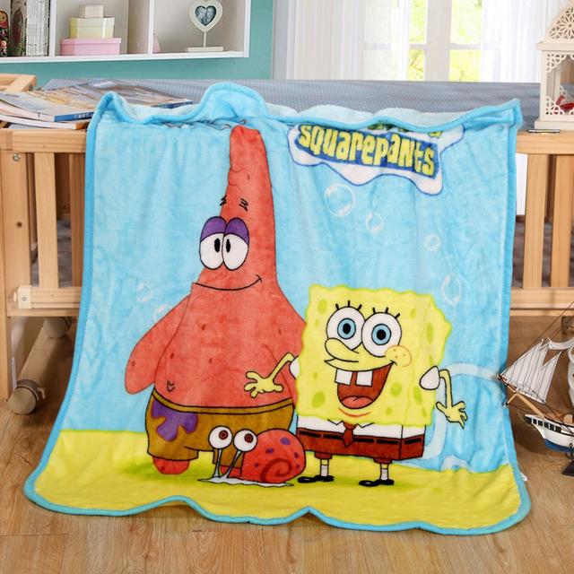 Cartoon Receiving Blanket Baby Nursing Blanket Flannel Throw Blanket Coral Fleece Portable Blankie Swaddling Wrap for Strolling