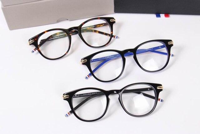 5189ecea4be44 2017 thom TB813 moldura Redonda óculos Moda Vintage frame ótico oculos de grau  óculos de armações