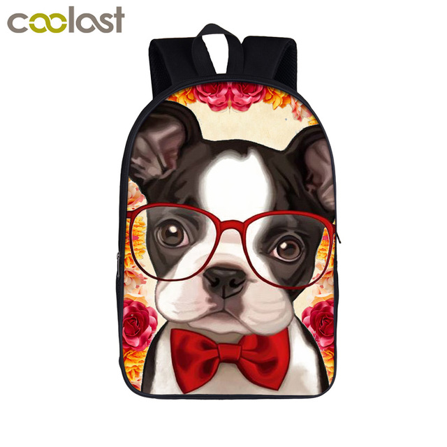 Puppy Dog And Flower Fashion Women Backpack