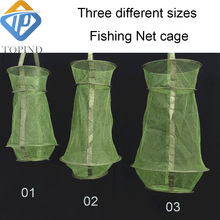 Fishing Bait Trap Cage Fish Net Pot Dip Cage For Lure Crayfish Crab Lobster Shrimp Collapsible Crawfish Minnows Storage Trap