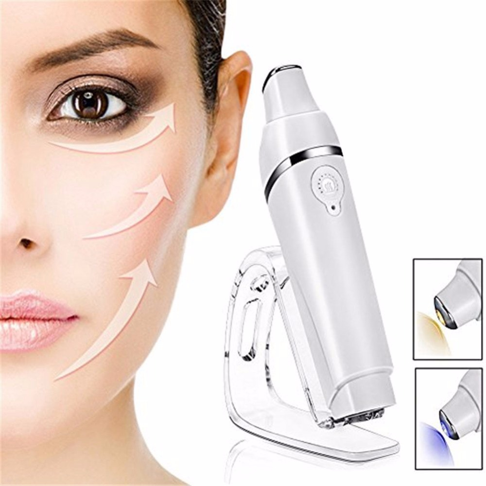 Heated Sonic Eye Massager Wand, Vibrating Massage Galvanic Wand For Dark Circles And Eye Puffiness, Rechargeable Anti-Agei